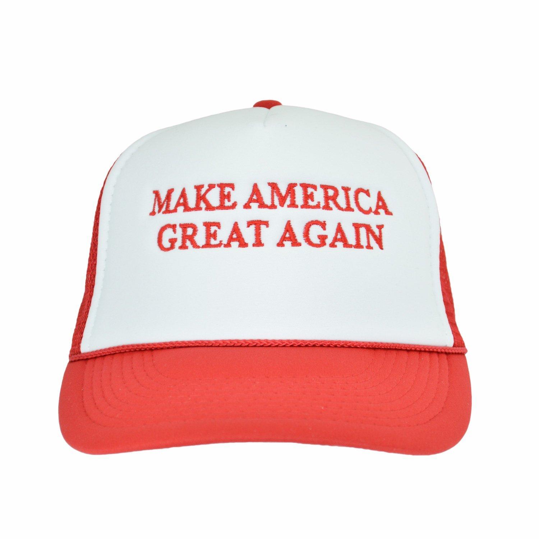 7b6737f7857 Amazon.com  Make America Great Again Republican Cap Embroider Red White Trucker  Hat Donald Trump  Clothing