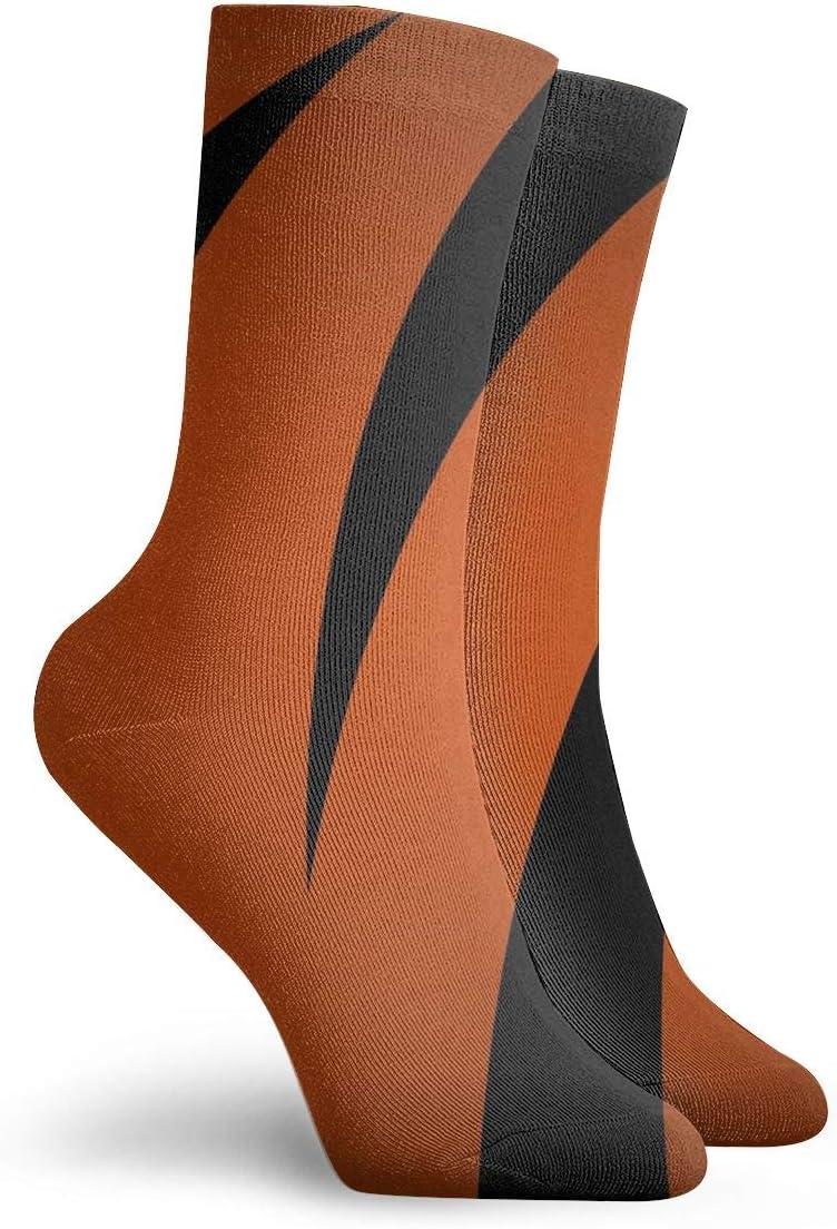 WEEDKEYCAT Black Red Zebra Striped Pattern Adult Short Socks Cotton Fun Socks for Mens Womens Yoga Hiking Cycling Running Soccer Sports