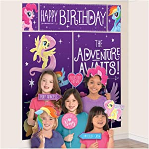 Amscan My Little Pony Friendship Adventures Scene Setters Wall Decorating Kit w/Props