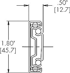 Load Rating 10 Travel 9.84 Lg. 1 Pair Accuride Drawer Slides 50 Lbs//Pr Medium Duty