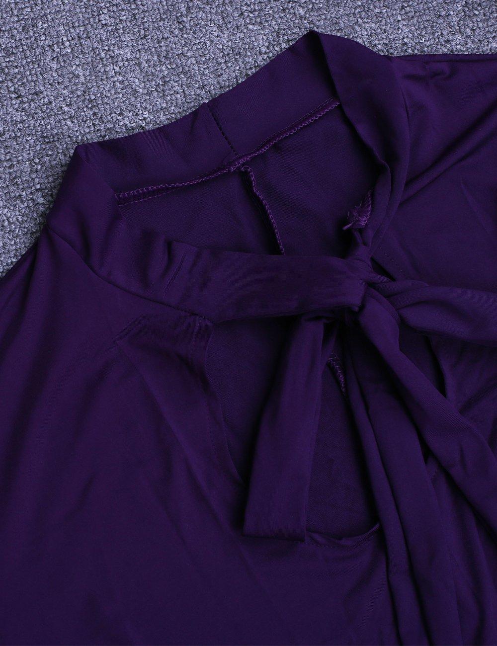 59bdfd1ab97 Lalagen Women s Vintage Long Sleeve Plus Size Evening Party Maxi Dress Gown  Purple XXXL - LLGEA61403PurpleXXXL   Dresses   Clothing