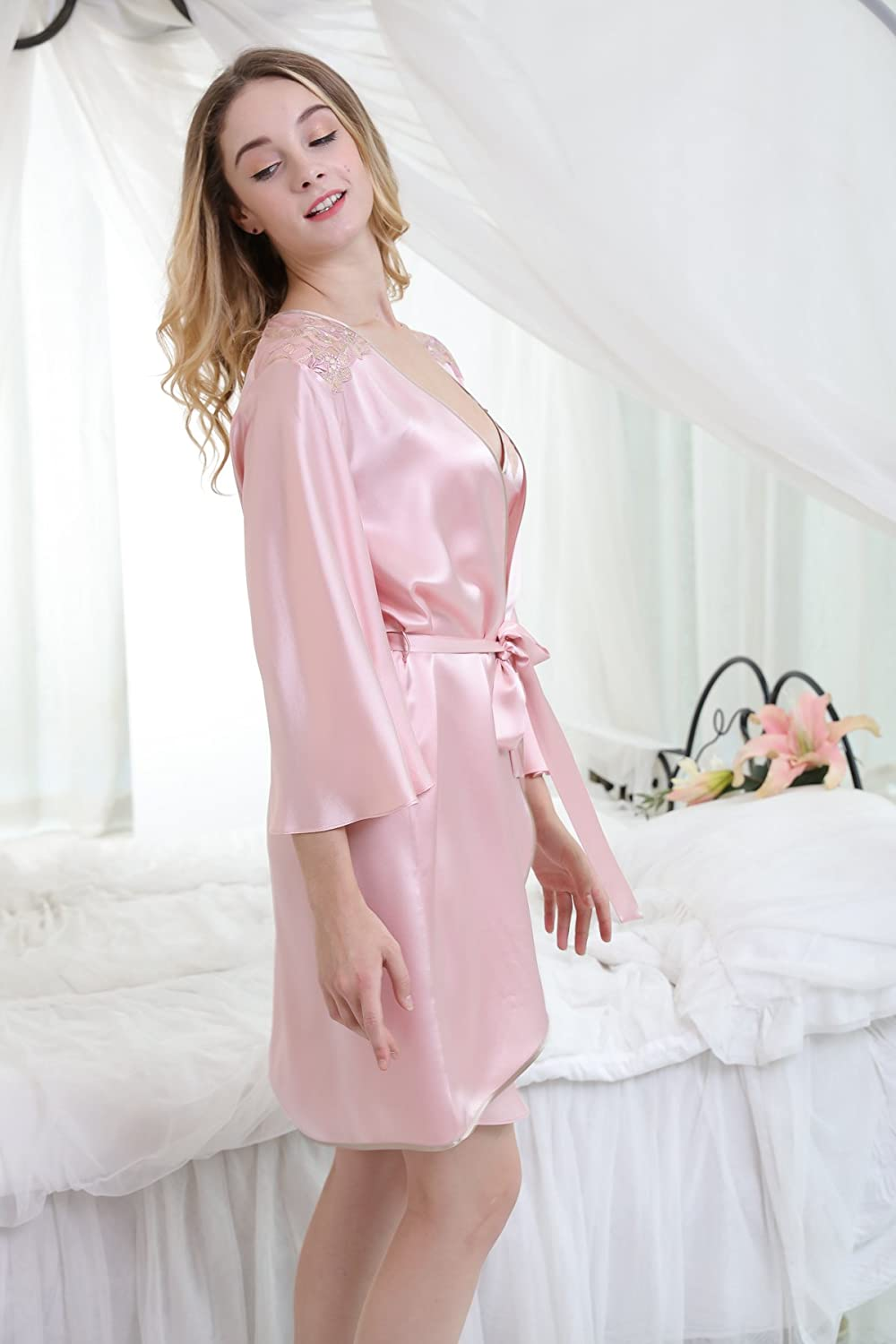 f4ebff069be7 Chesslyre Women s 100% Mulberry Silk Camisole 2 Piece Pajamas at Amazon  Women s Clothing store