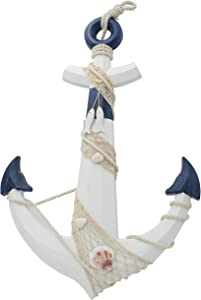 """Royal Brands 26"""" Wooden Nautical Beach Boat Anchor Wall Hanging Decorative Wood Ornament Plaque"""
