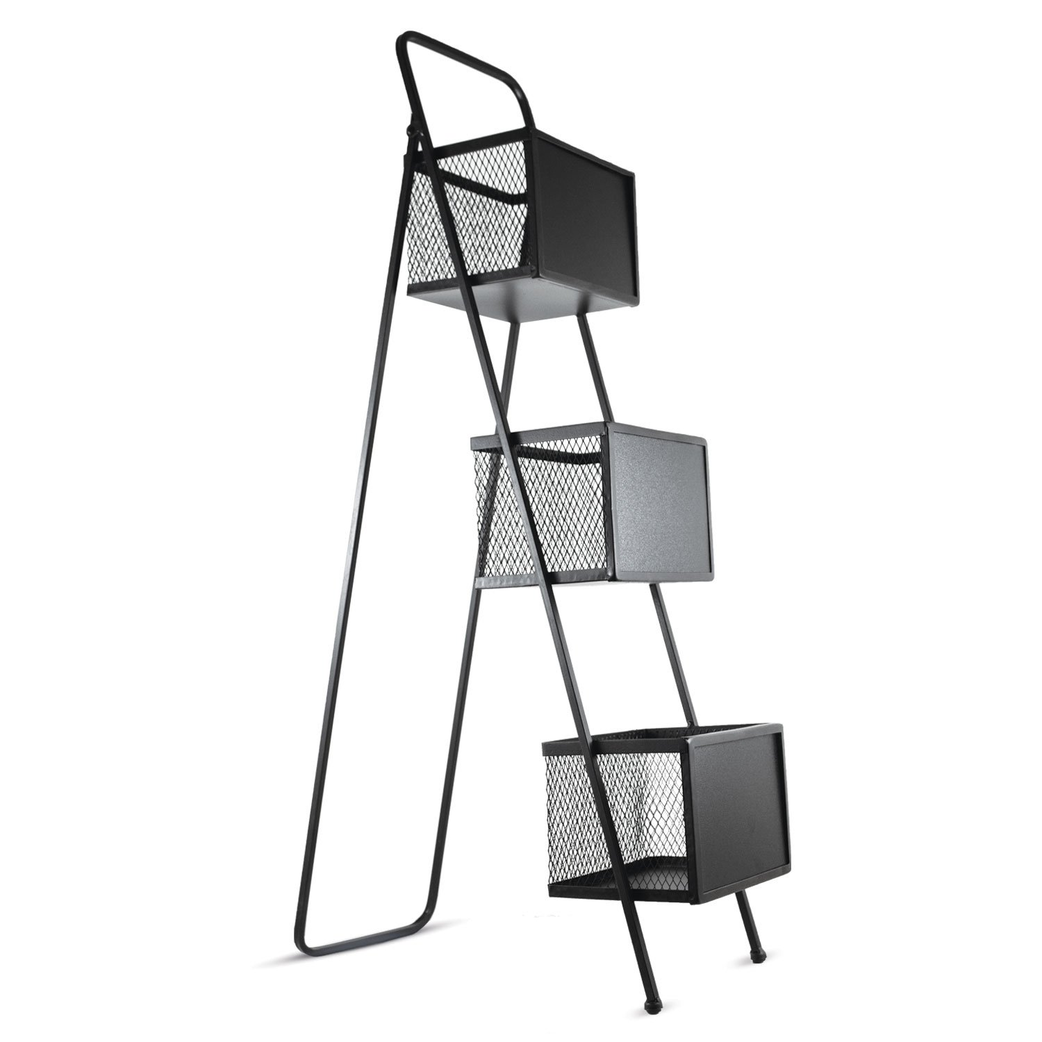 Crystal Art Standing Magazine Rack Black 121017WEB5