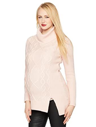 ca32aa9e2bf Amazon.com  A Pea in the Pod Cable Knit Maternity Sweater  Clothing