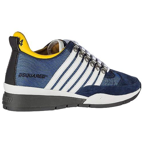 d4d59dd6e6b12 Dsquared2 Chaussures Baskets Sneakers Homme en Daim 251 blu EU 44 W17SN101  1295 M071