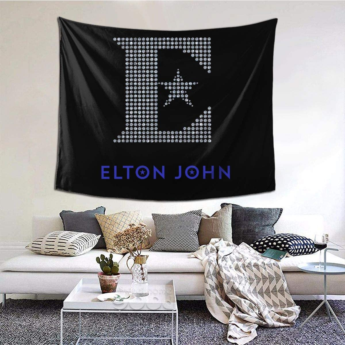 Elton John Home Room Decoration Tapestry Custom Background Cloth Background Wall Tapestry