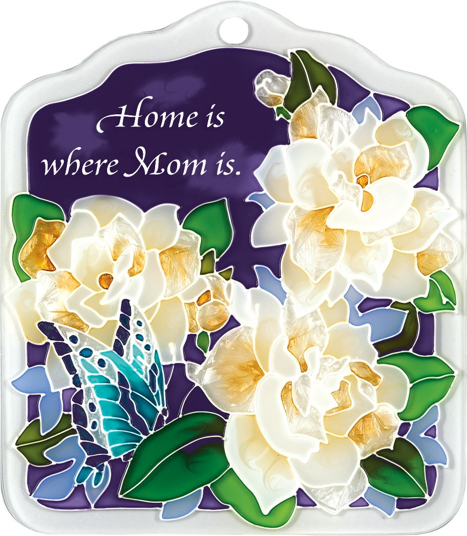 Joan Baker Designs tp1023タイルPlaque、Gardenias /ホームis where momは、6 by 7-inch B00BCE6I9A