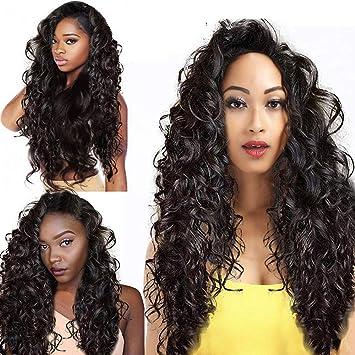 Amazoncom Hot Sale Brazilian Wigswomen Black Long Wavy Curly