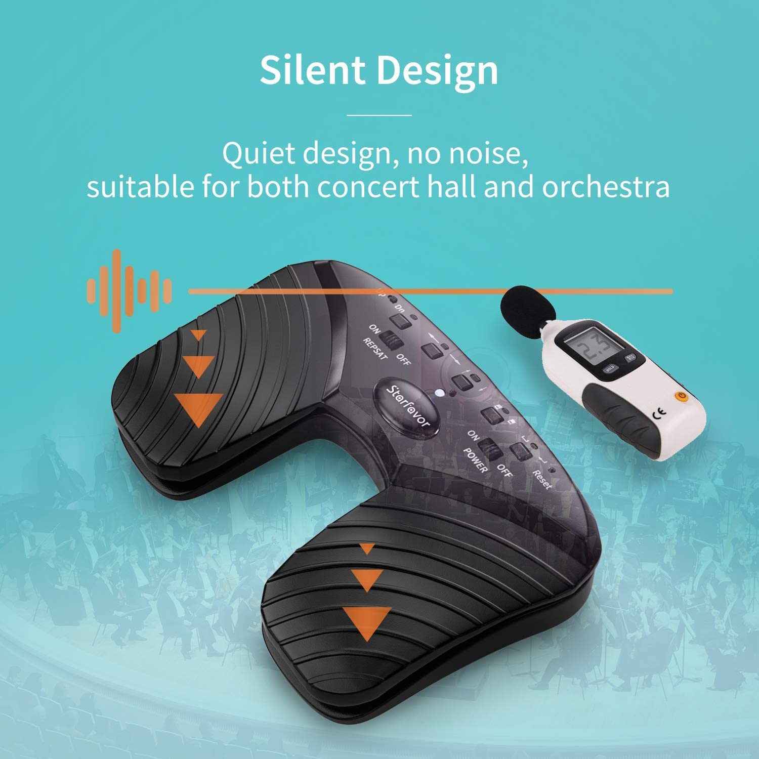 ghdonat.com Starfavor Silent Page Turner Pedal Wireless for ...