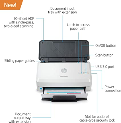 Amazon.com: HP Scanjet Pro 2000 s2 Sheet-Feed Scanner (6FW06A ...