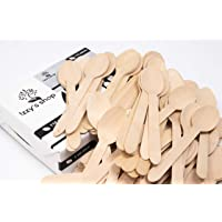 Izzy's Disposable Wooden Cutlery Spoons [110-Pack] | 100% Natural, Eco-Friendly, Biodegradable & Compostable Birchwood Flatware Set for Parties, Camping, Weddings & Everyday Use | Kitchen Utensil Set