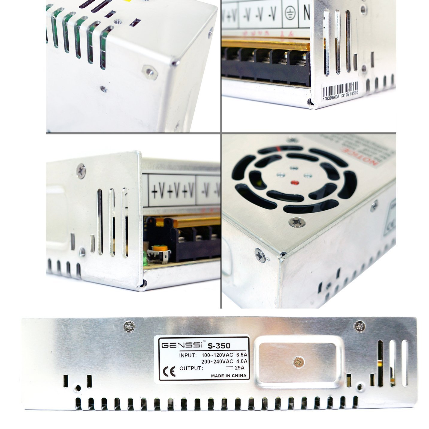 71MrLQqGm7L._SL1432_ amazon com genssi 48v dc 7 3a 350w regulated switching power  at sewacar.co
