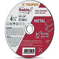"Truper DICOF-4510, Disco abrasivo para corte extrafino de metal, alto rendimiento, 1 mm, 4 1/2"""
