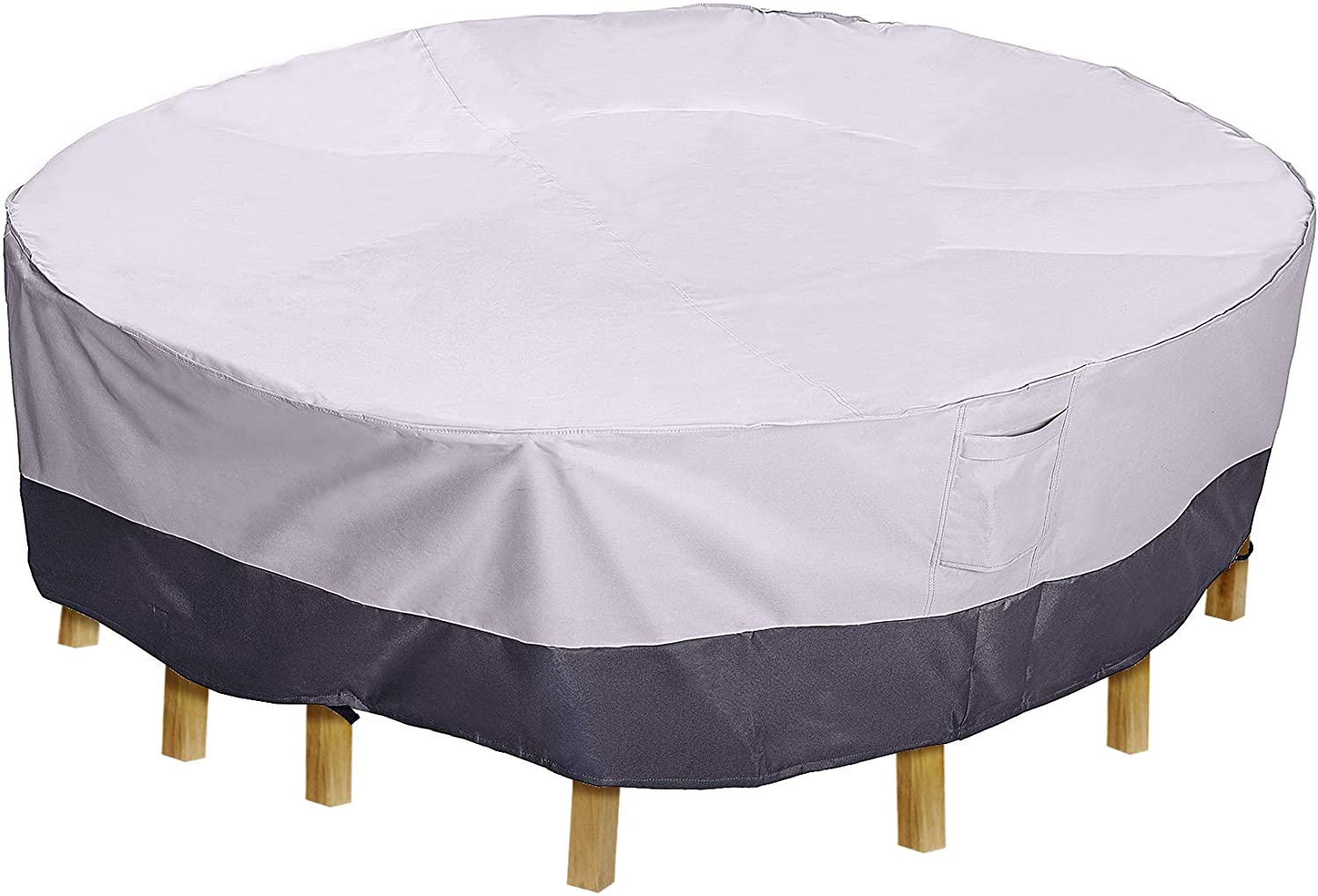 AsterOutdoor Waterproof Patio Furniture Cover, Heavy Duty 600D Oxford Fabric, UV Protection Patio Furniture Cover for Round Patio/Outdoor Dining Table Chairs, 70