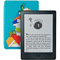 Kindle for Kids Bundle with Kindle E-reader 8th Generation, 2-Year Worry-Free Guarantee, Bookworm Cover