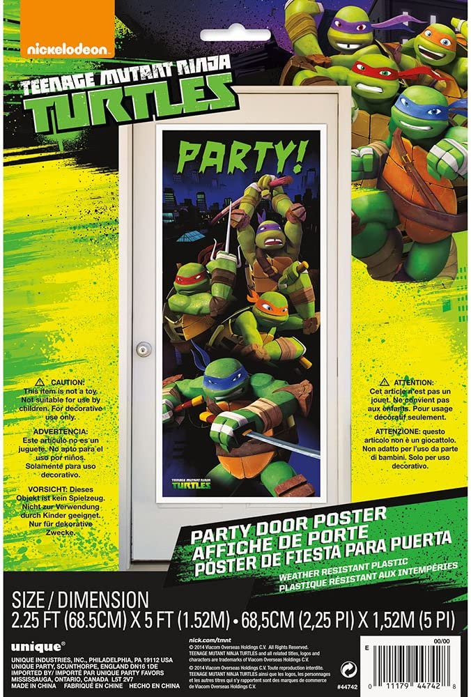 Plastic Teenage Mutant Ninja Turtles Door Poster, 60