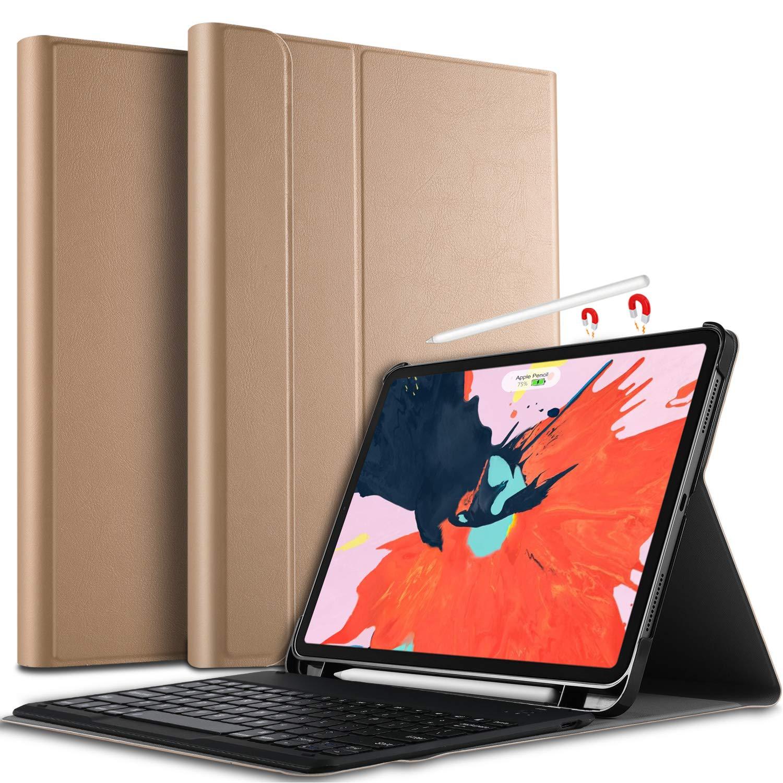 値頃 IVSO キーボードケース iPad iPad Pro ゴールド 12.9 2018用 - 取り外し可能ワイヤレスキーボード フロントプロップスタンドケース B07KWWKD7Z/カバー Apple iPad Pro 12.9 2018タブレット用 ゴールド B07KWWKD7Z, 三加茂町:64842d16 --- a0267596.xsph.ru