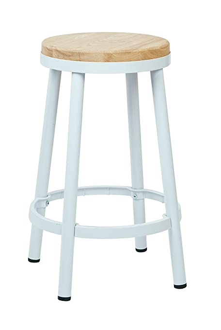 Amazoncom Office Star Bristow 26 Inch Metal Backless Barstool With
