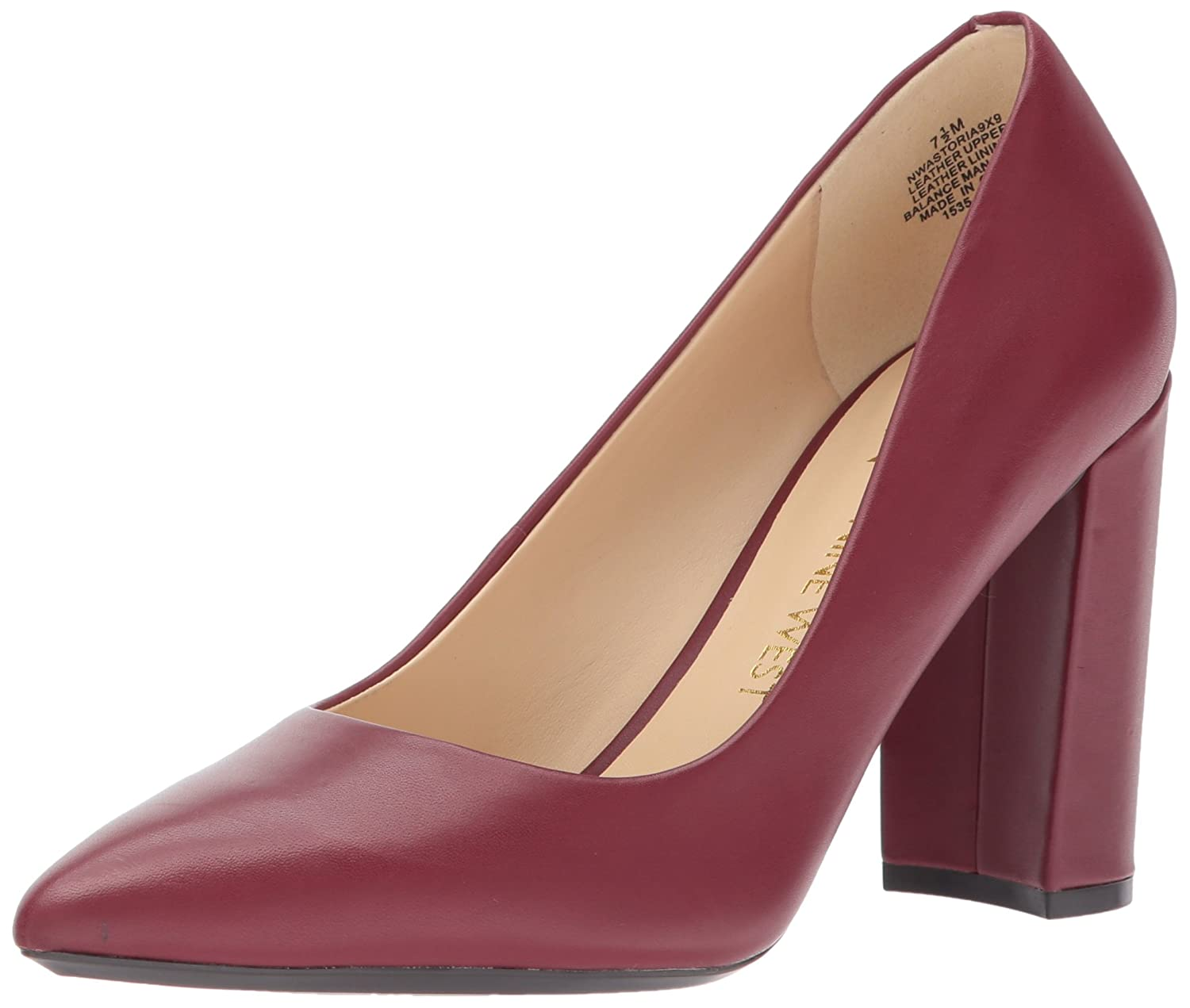 Nine West Women's Astoria Pump B06WP55RFW 6.5 B(M) US|Wine Leather
