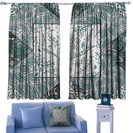 Amazon.com: ParadiseDecor Boho Kitchen Curtains Shabby Chic ...