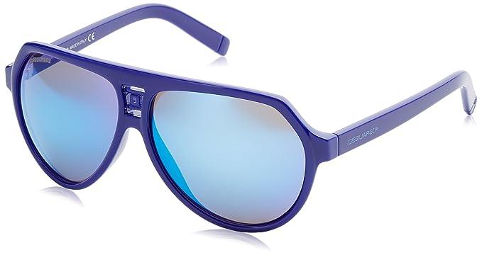 Dsquared2 Square Eye Gafas de sol, Azul (Blu), 60 para ...