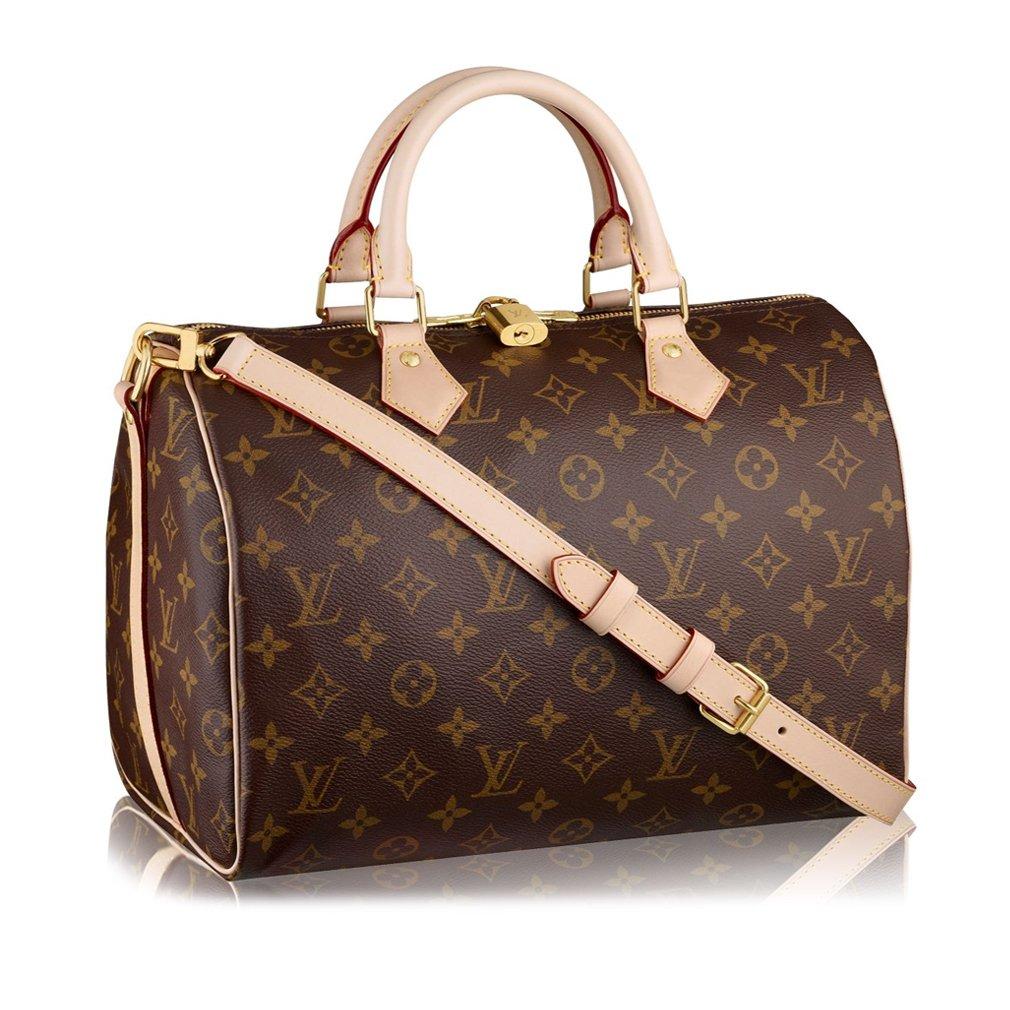 5dc8b4ac0600 Louis Vuitton Monogram Canvas Speedy Bandouliere 30 Article M41112 Made in  France  Handbags  Amazon.com