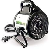 Bio Green Elektrogebläseheizung Palma manuell, silber/schwarz, 2000 Watt