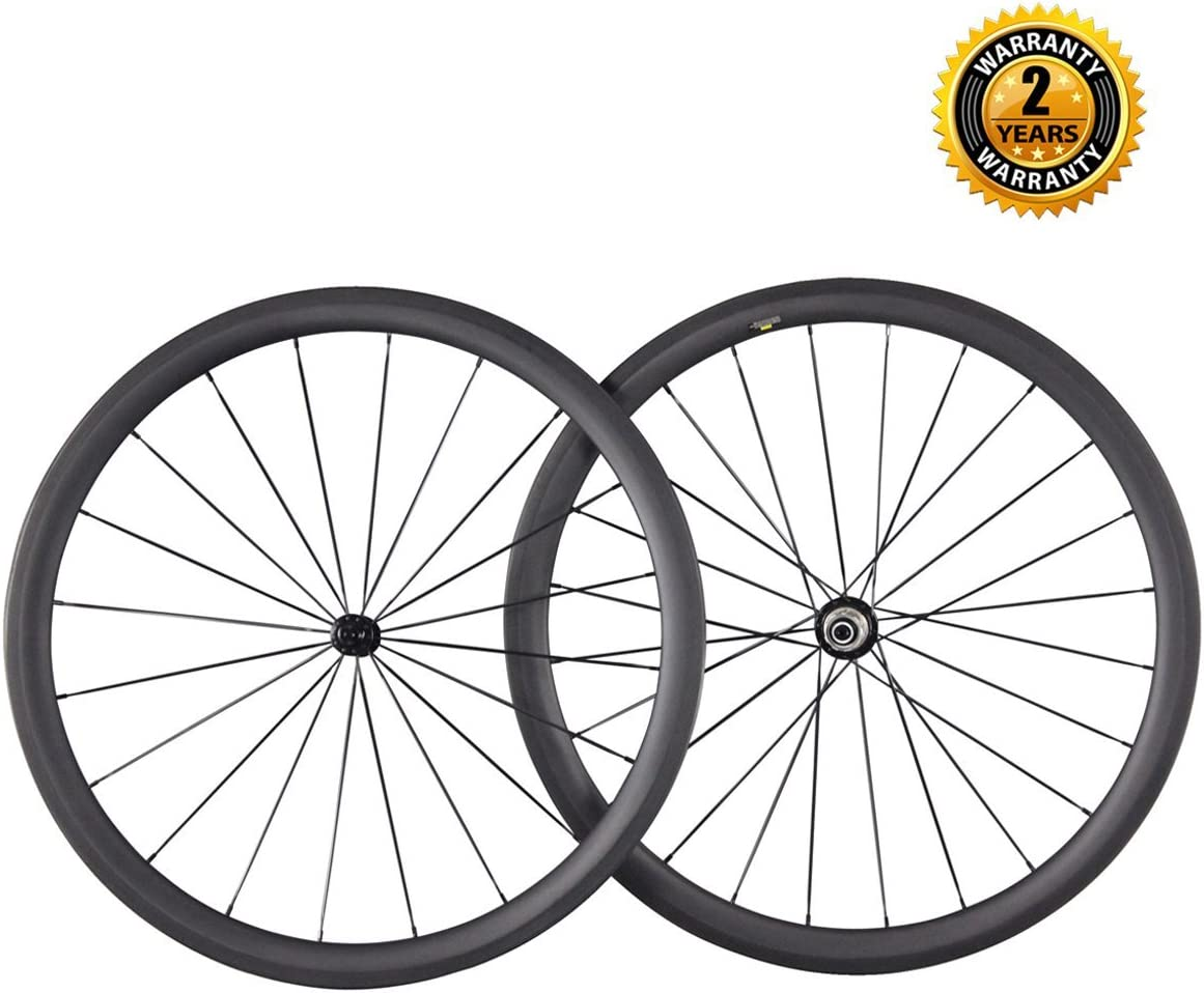 ICAN 40 mm Ruedas de Carbono Carretera Bicicleta 25 mm de Ancho ...