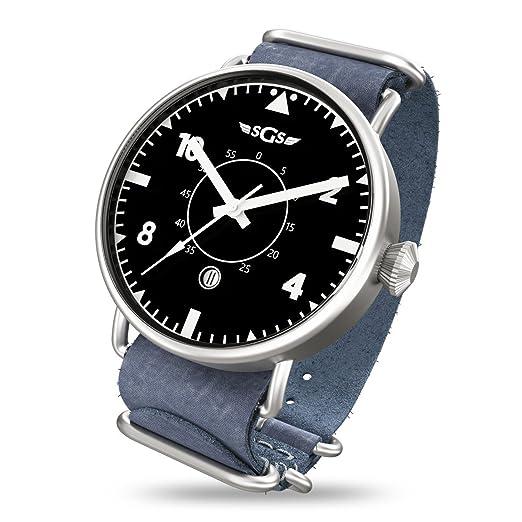 SGS Eagle ASWN - Reloj piloto de cristal de zafiro automático para hombre