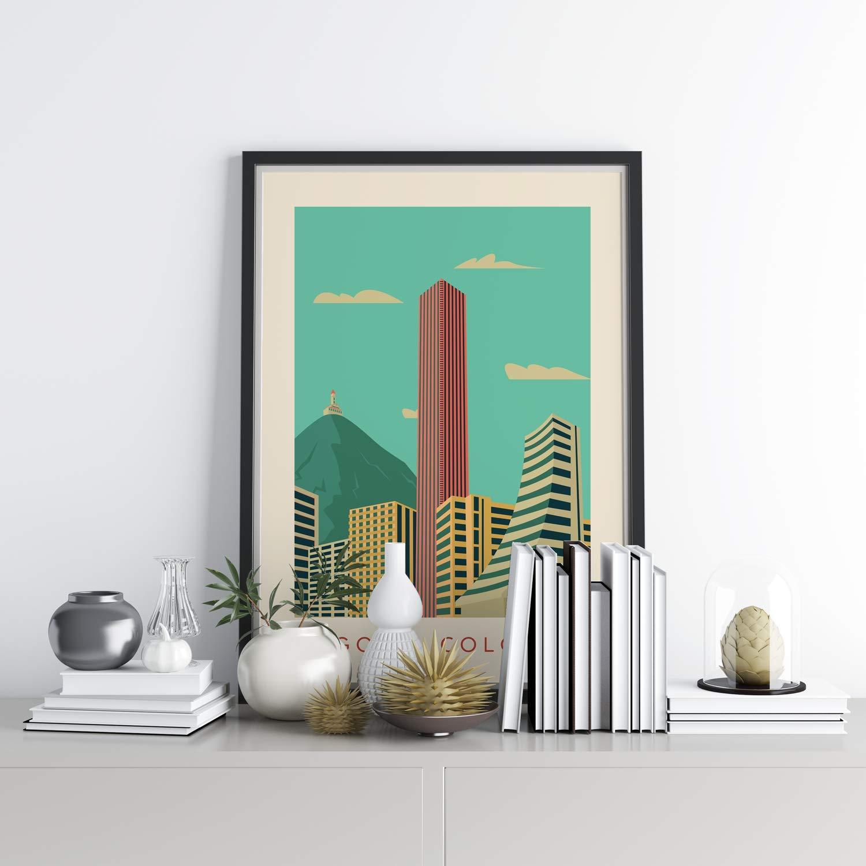 Colombia Vintage Style Poster Travel Print Bogota unframed