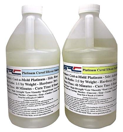 RTV Silicone Rubber for Mold Making - Food Grade - 1:1 Mix Ratio (1 Gallon)