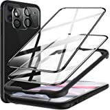 [2+2 Pack] LK 2 Pack Screen Protector + 2 Pack Camera Lens Protector Compatible with iPhone 11 6.1 inch, 9H Tempered Glass, F