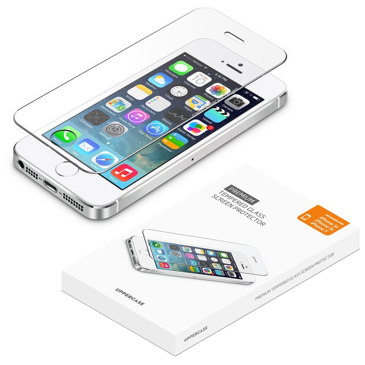 watch bd8fb 30955 [2 Pack] UPPERCASE Designs Premium Anti-Scratch 2.5D Round Edge Case  Friendly Tempered Glass Screen Protector, Compatible with iPhone 5/5S/SE  [4.0 ...