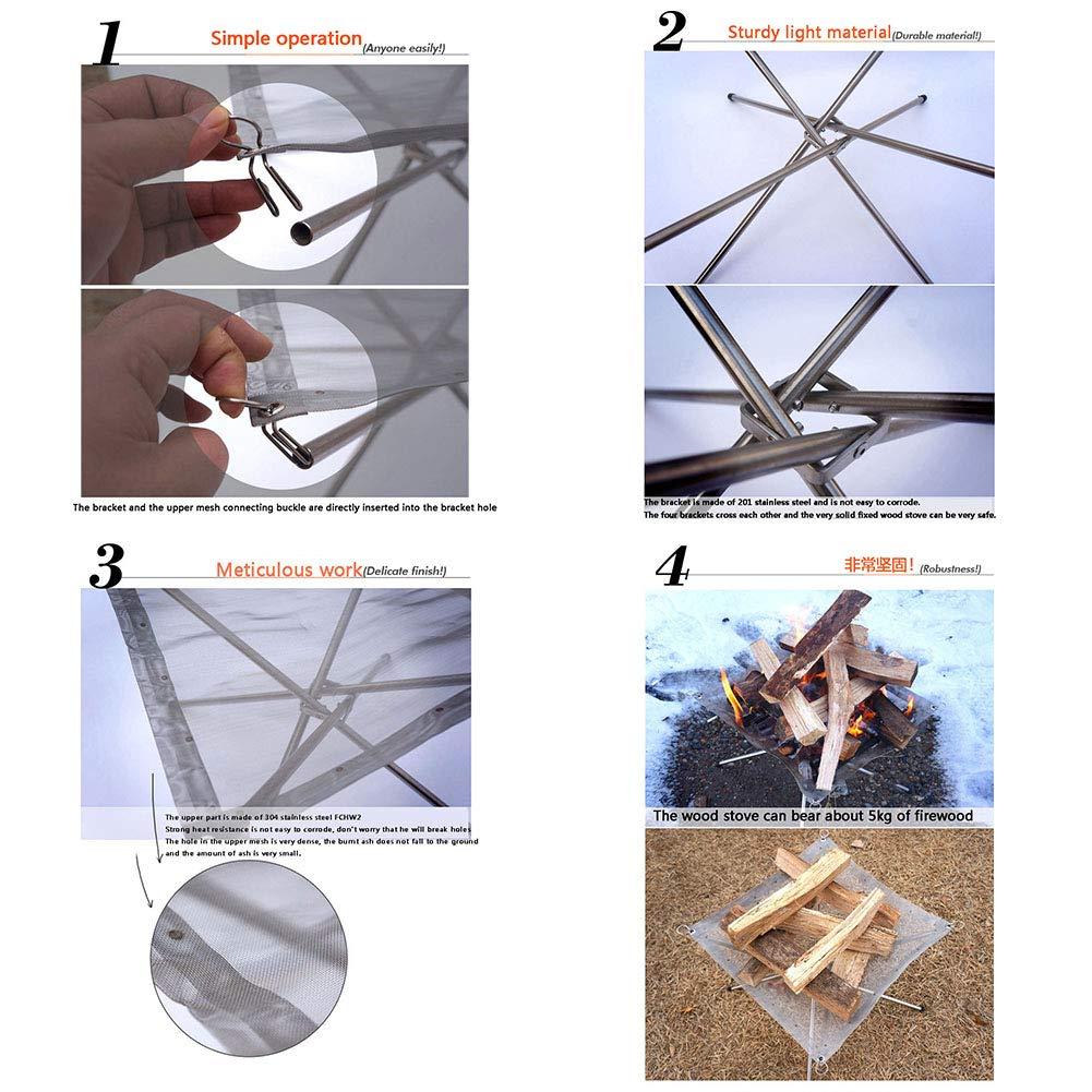 YXCXC Incinerador Portable Al Aire Libre Que Dobla La Estufa ...