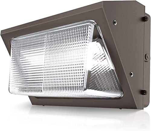 AOK LED Wall Pack Outdoor Lighting 125lm w 5000K Daylight 100-277V Commercial Lighting Fixture Waterproof UL, DLC Premium, Bronze, 120W 15,000lm