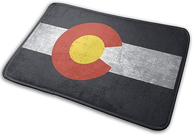 Felpudo Decorativo para Puerta de jardín, Oficina, baño, con Antideslizante, para Entrada Interior, diseño de Bandera de Colorado, fácil de Limpiar: Amazon.es: Hogar