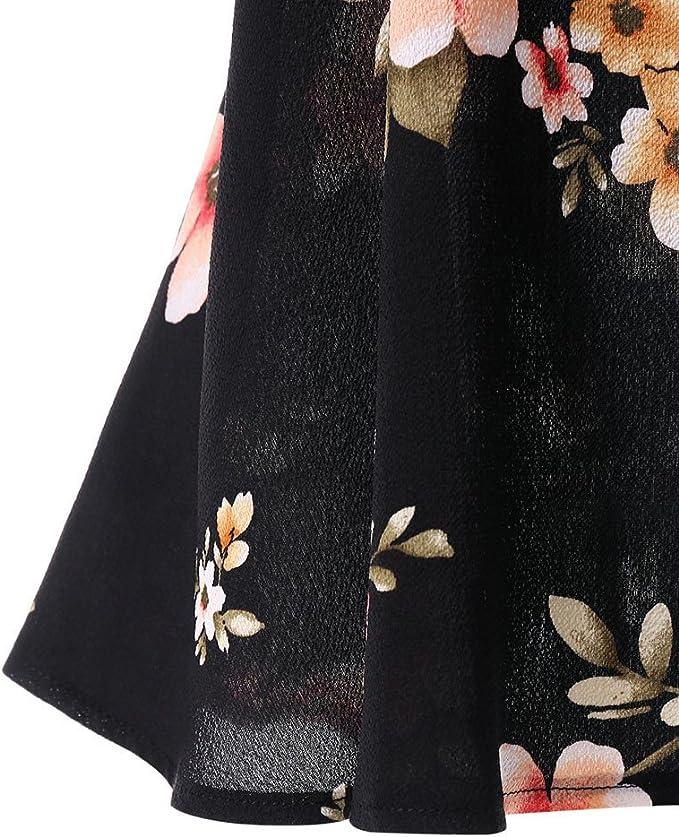 Auifor Impresión Floral de Las Mujeres de la Camisa del Hombro ...