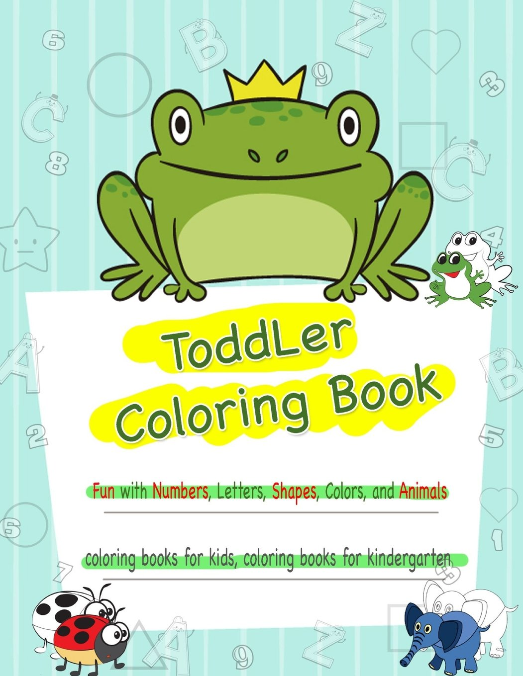 Buy Toddler Coloring Book Numbers Colors Shapes Coloring