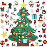 Garma DIY Felt Christmas Tree Set with 41 Ornaments, Christmas Felt Craft Kits Xmas Wall Hanging Decorations for Kids Toddler