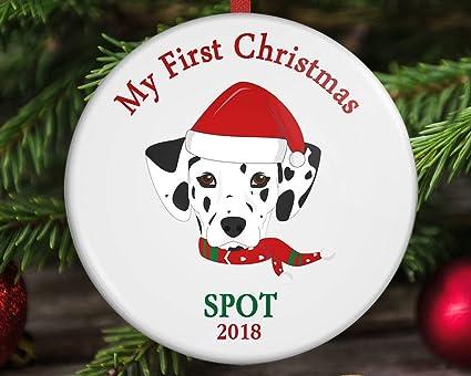 Dogs First Christmas Ornament.Amazon Com Dog S First Christmas Ornament Puppy S First