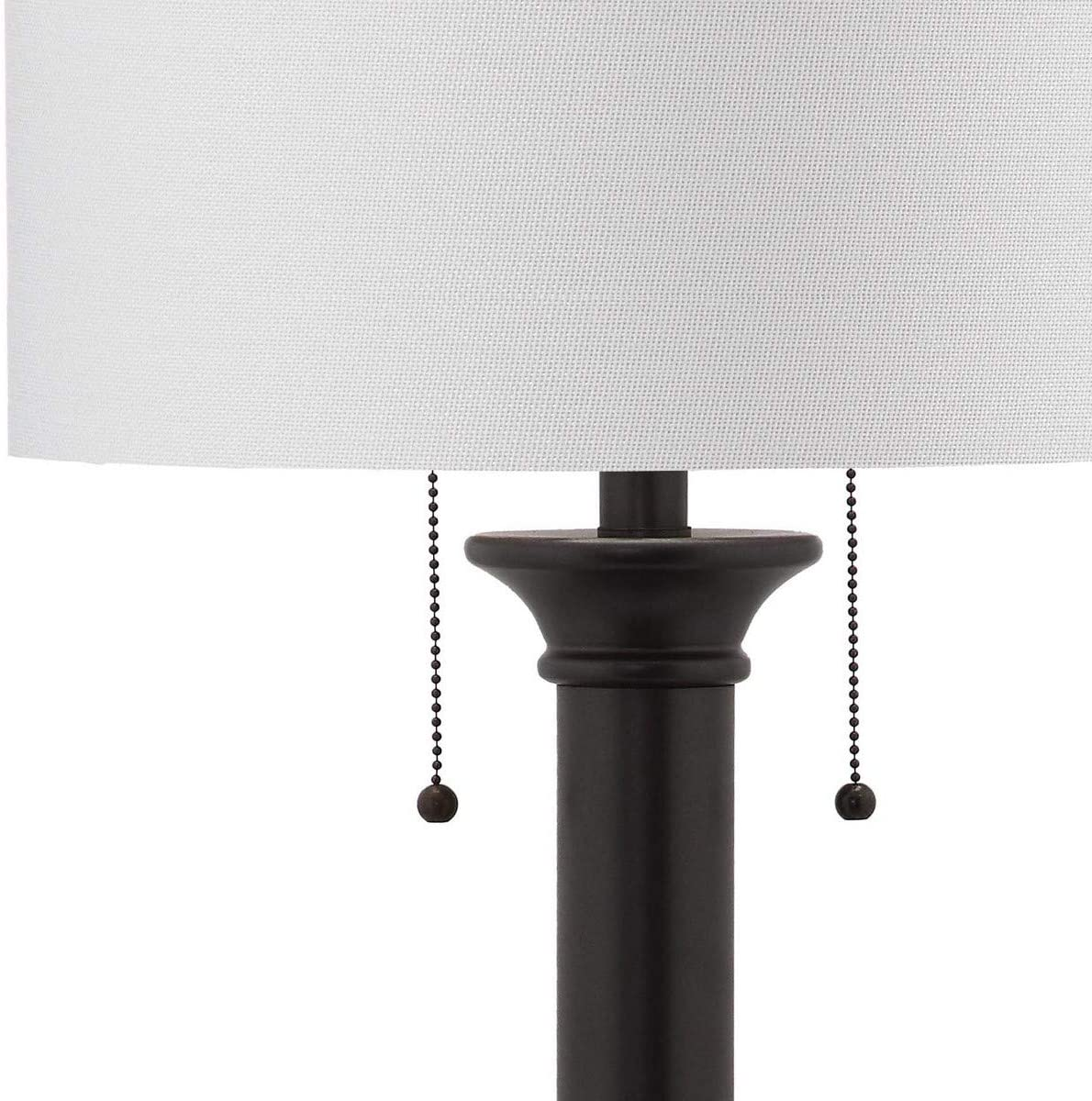 Safavieh Lighting Collection Estilo Column Silver Grey 35.25 inch Table Lamp (Set of 2)