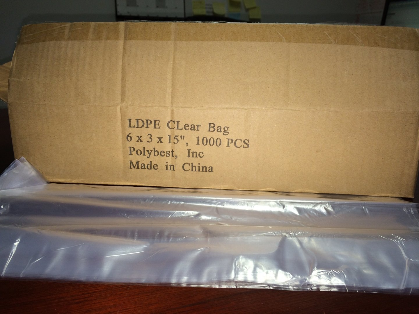 Polybest Inc LDPE Clear Bag 6'' x 3'' x 15'' 1000 pieces