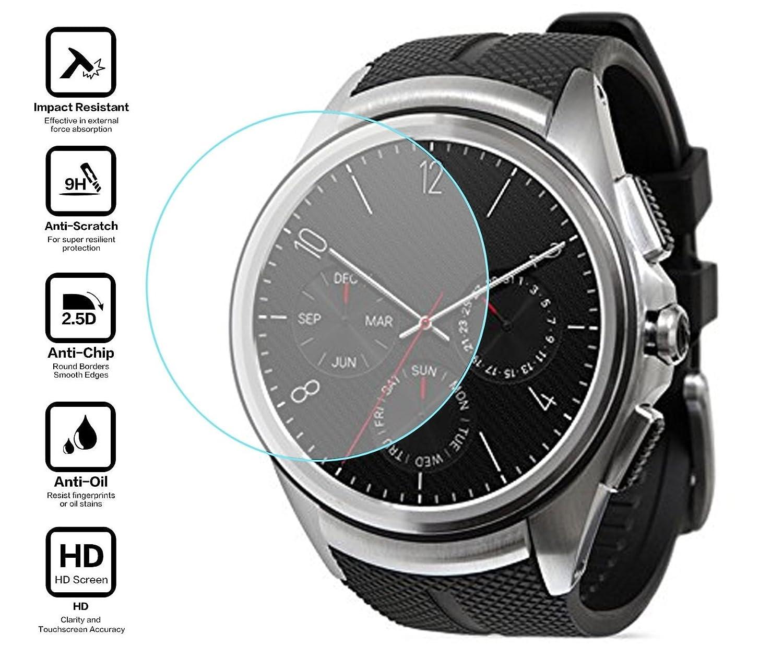 BlueBeach® Templado de Vidrio Protector de Pantalla para LG Watch Urbane 2nd Edition (No es adecuado para 1st Edition)