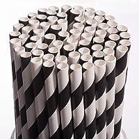 Biodegradable Paper Straws Drinking Disposable Eco-Friendly Straws Bulk for Birthday,Cake Pops Sticks,Baby Showers…