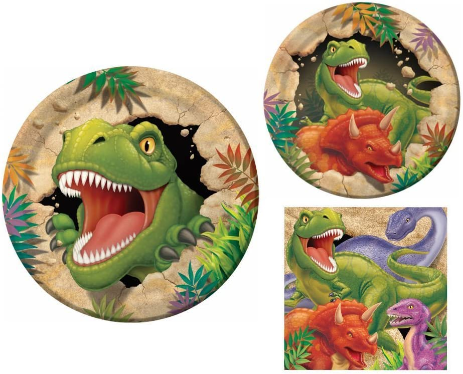 Creative Converting Dino Blast Happy Birthday 16 Count 3-Ply Paper Lunch Napkins