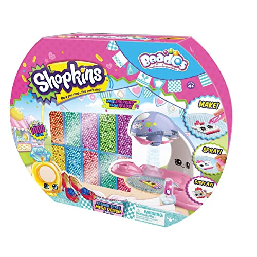 Beados Shopkins Arts And Crafts Fashion Spree Quick Dry Mega Design Station With 900 Beads Once You Shop You Cant Stop!!!
