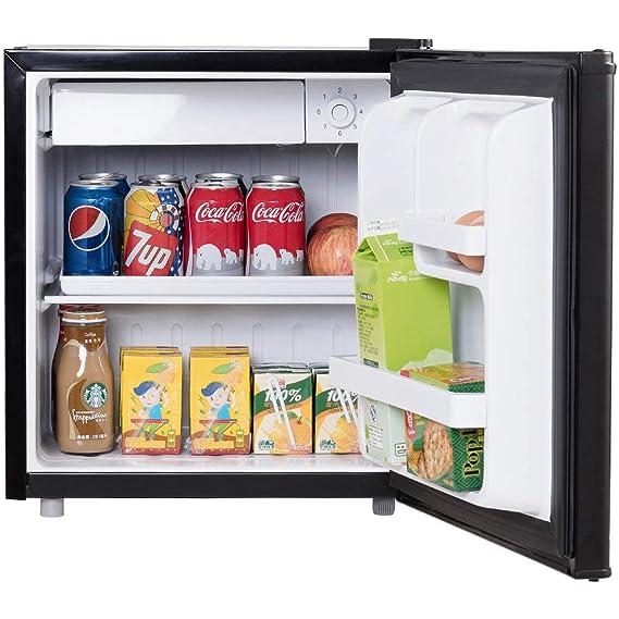 costway Mini frigorífico con congelador nevera y congelador Combinación A + 48L Negro: Amazon.es: Grandes electrodomésticos