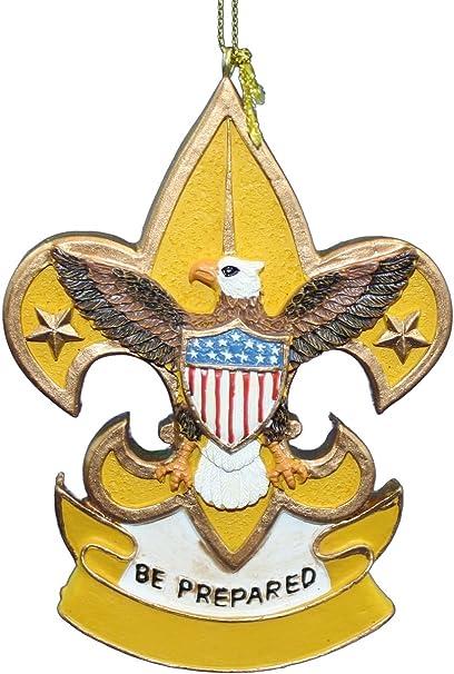 Amazoncom Kurt Adler Boy Scout Shield Ornament Fleur De Lis