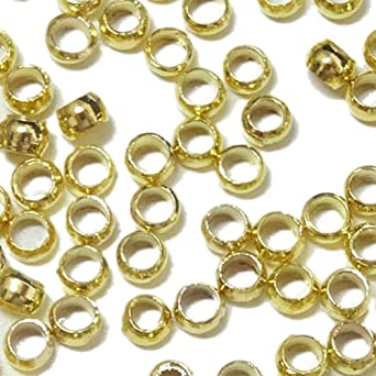 2579e30aaa8a62 Nina カシメ玉 つぶし玉【2.5mm ゴールド約100個セット】ハンドメイド オリジナル